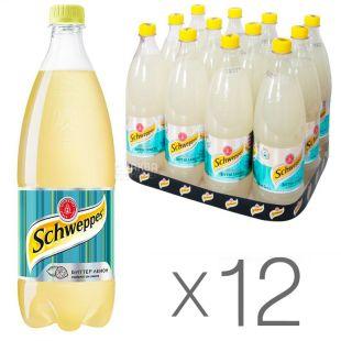 Schweppes, Packing 12 pcs. on 1 l, Bitter Lemon, PET