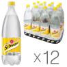 Schweppes, Indian Tonic, Упаковка 12 шт. по 1 л, Швепс, Індіан, Тонік трав'яний, безалкогольний, ПЕТ