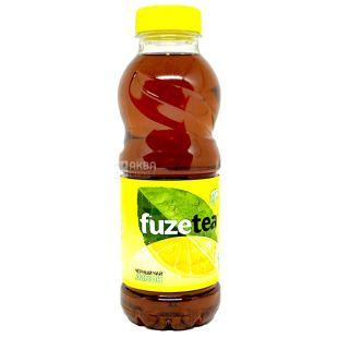 Fuzetea, 0.5 L, Black Tea, Lemon Flavored, PET