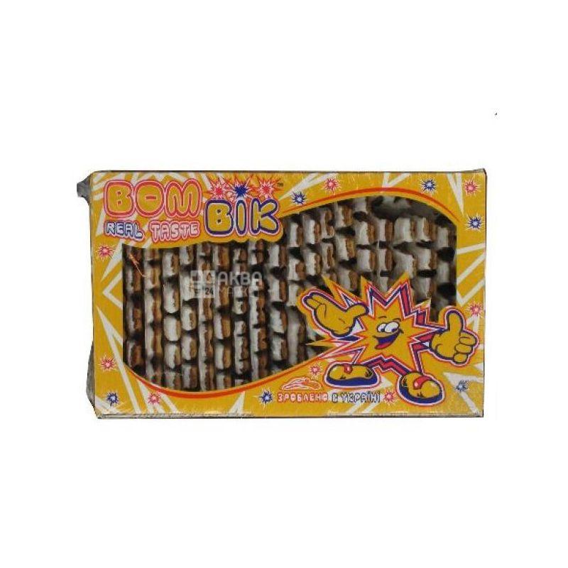 Бом-Бик, 350 г, Печенье слоеное, Сенсация с белым шоколадом, Картон
