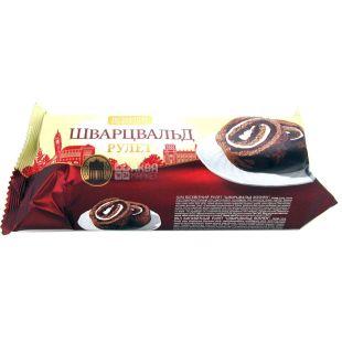 Roshen, 240 г, Рулет шоколадний, Шварцвальд