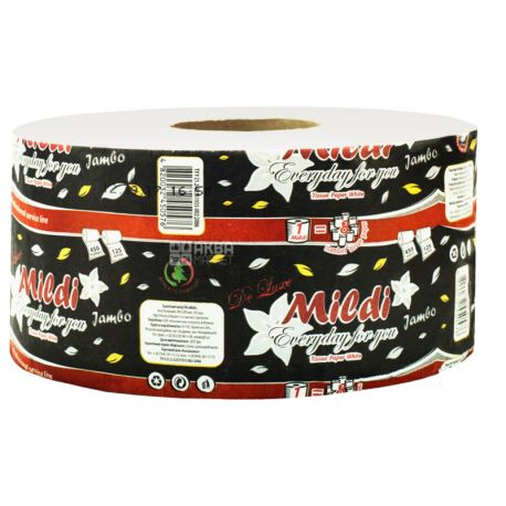 Mildi Premium Jambo, 1 рул., Туалетная бумага Милди Премиум Джамбо, 2-х слойная