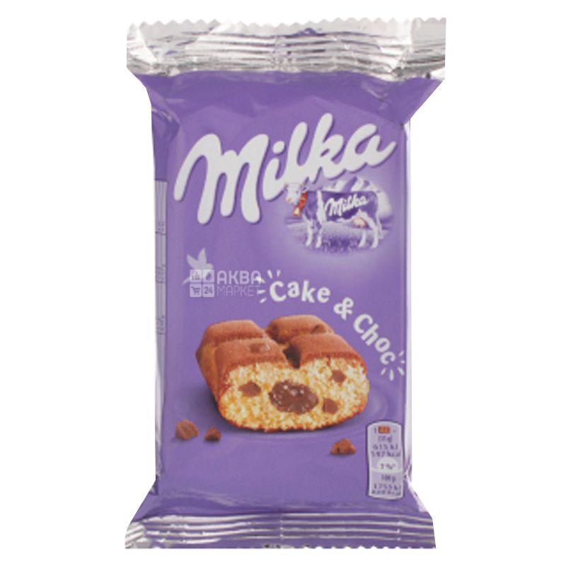 Milka, 35 г, Печенье, Бисквит с шоколадом