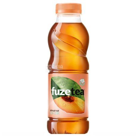 Fuzetea, 0,5 л, Чай Фьюзти холодный, черный, Персик