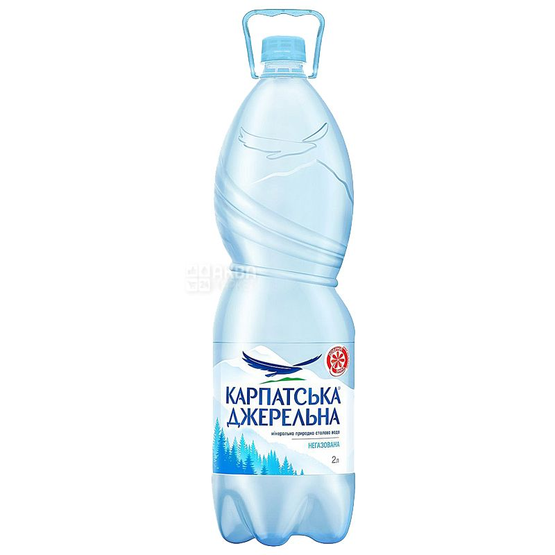 Карпатська Джерельна, 2 л, Упаковка 6 шт., Вода мінеральна негазована, ПЕТ