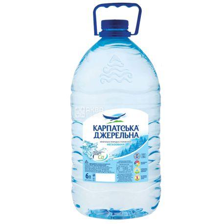 Karpatska Dzherelna, Packing 10 pcs. on 6 l, Mineral water, Non-carbonated, PET, PAT