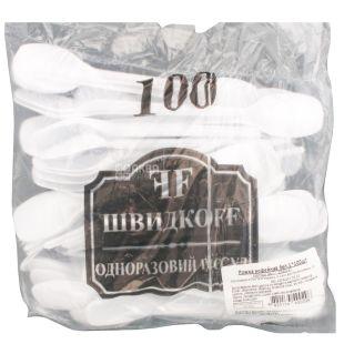 Bittner, Ложка кофейная прочная, белая, 100 шт.