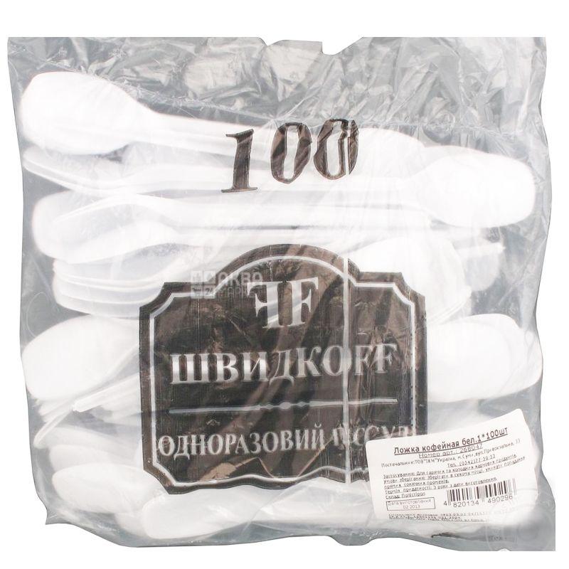 Bittner, Ложка кавова міцна, біла, 100 шт.
