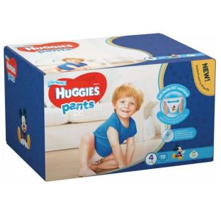 Huggies Pants Boy 4, 72 шт., 9-14 кг, Підгузники, Для хлопчиків, м/у