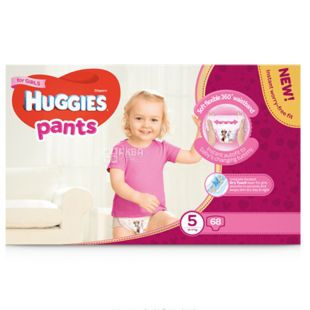 Huggies Pants Girl 5, 68 шт., 12-17 кг, Підгузники, Для дівчаток, м/у
