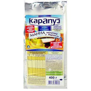 Карапуз, 400 г, Молочная каша, Манная с фруктами