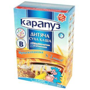 Карапуз, 250 г, Мультизлаковая каша, 8 злаков
