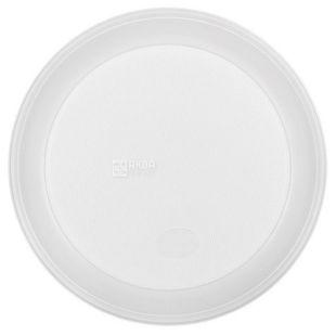 Тарелка пластиковая, 100 шт., 205 мм, Глубокая, Белая