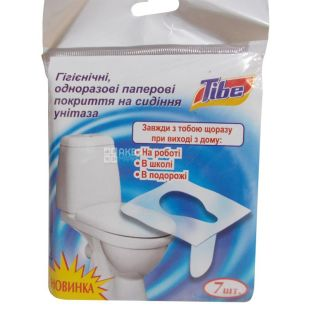 Fresh Mint, 7 pcs, Hygienic cover on the toilet seat, Disposable, M / y.