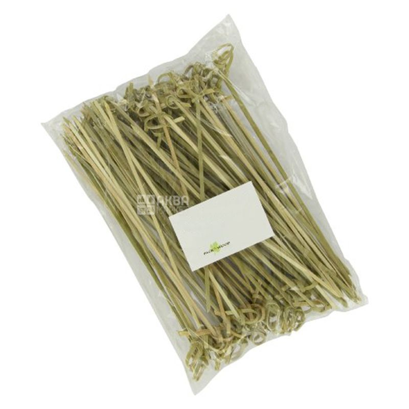 Шпажки бамбукові Вузол, 10 см, 100 шт.