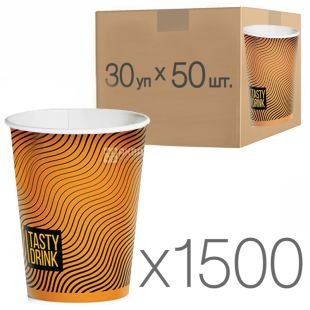 Glass paper with the drawing Geometry of 250 ml, 30 packings, D80