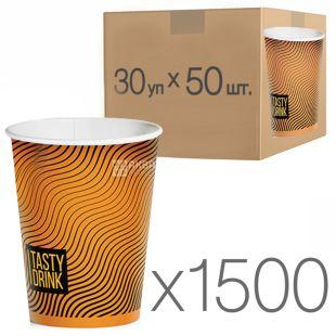 Стакан паперовий з малюнком Геометрія 250 мл, 30 упаковок, D80