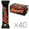 Mars, 51 г, упаковка 40 шт., Шоколадний батончик, Марс