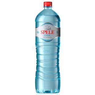Spele, 1,5л, Вода негазованна, Clear, ПЭТ