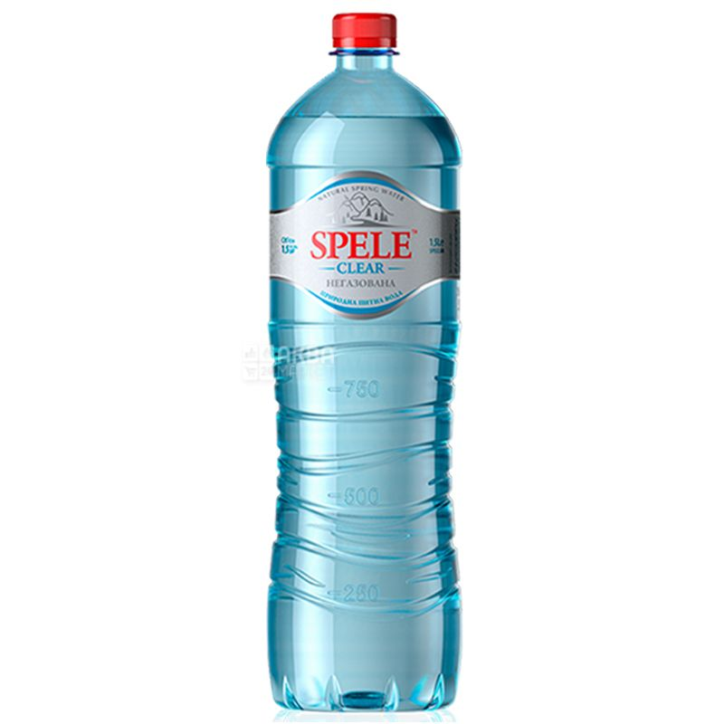 Spele Clear, Вода минеральная негазированная, 1,5 л, ПЭТ