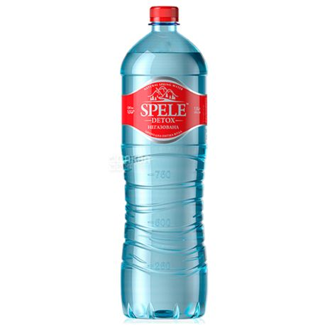 Spele Detox, Вода негазированная, 1,5 л, ПЭТ