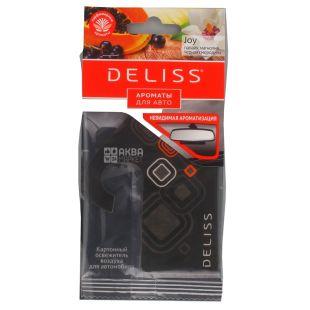Deliss, 1 шт., Освежитель воздуха для автомобиля, Joy, Аромат папайи, магнолии, черной смородины