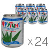 Fruiting, Natural aloe drink, 238 мл, Упаковка 24 шт., Фруттинг, Напиток из натурального алоэ с кусочками алоэ, ж/б
