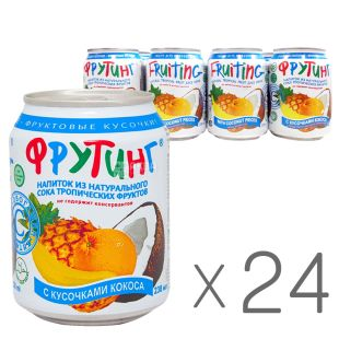 Fruiting, Packing 24 pcs. on 0.238 l, Drink from multifruit juice, can