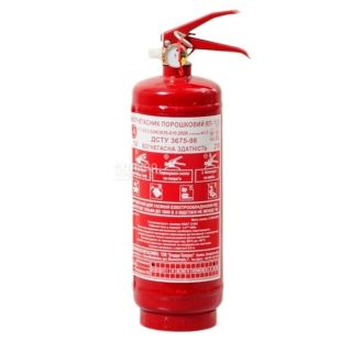 Пожбезпека, 3,5 кг, Огнетушитель, Порошковый, ОП-1, Красный