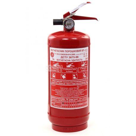 Пожбезпека, 6,2 кг, Огнетушитель, Порошковый, ОП-2, Красный