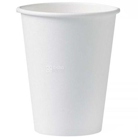 Стакан паперовий білий 400 мл, 50 шт., 20 упаковок, D80