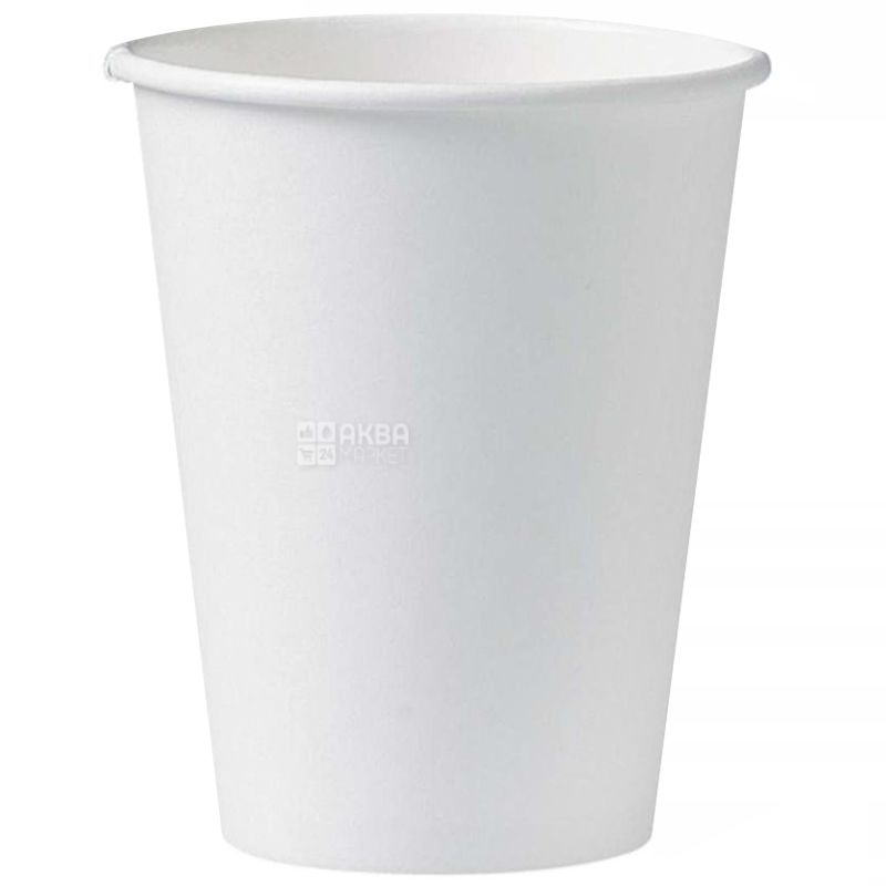 Стакан бумажный белый 400 мл, 50 шт., 20 упаковок, D80