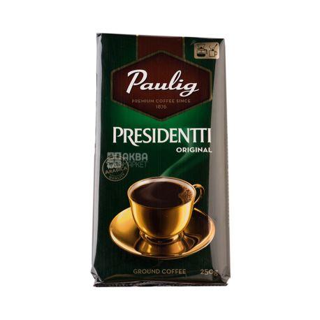 Paulig President, 500 г, Кава Пауліг Президент, середнього обсмаження, мелена