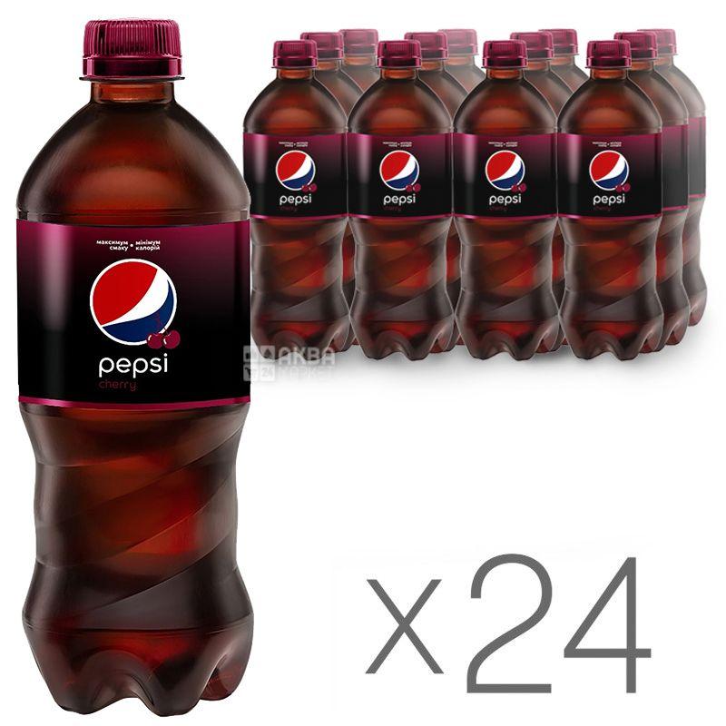 Pepsi, Упаковка 24 шт. по 0.5 л, Солодка вода, Wild Cherry, ПЕТ