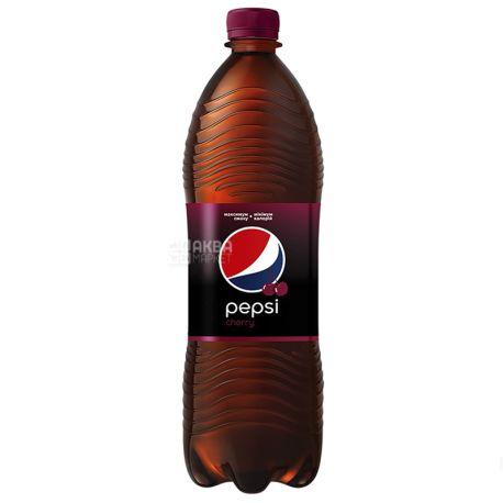 Pepsi-Cola, Wild Cherry, Упаковка 12 шт. по 1 л, Пепсі-Кола, Вайлд Черрі, Дика Вишня, Вода солодка, ПЕТ