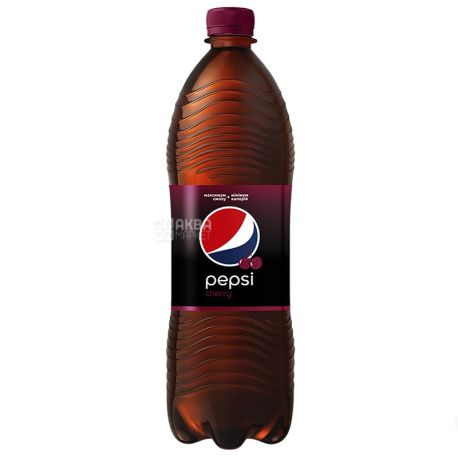 Pepsi-Cola, Wild Cherry,  Упаковка 12 шт. по 1 л, Пепси-Кола, Вайлд Черри, Дикая Вишня, Вода сладкая, ПЭТ