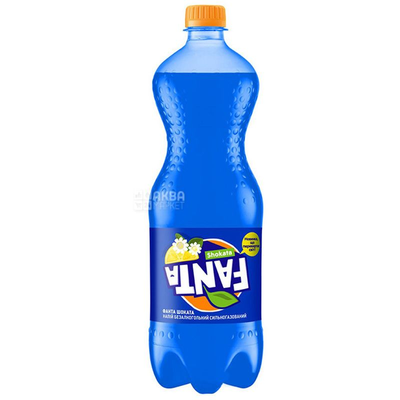 Fanta, Shokata, 1 л, Фанта Шоката, Лимон-Бузина, Вода солодка, з натуральним соком, ПЕТ