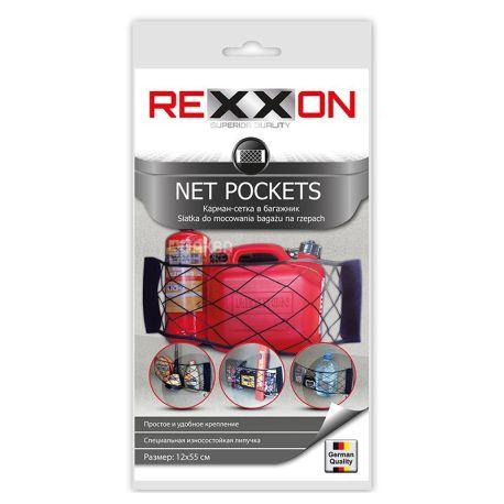 Rexxon, 12x55 cm, Net, For trunk, Black