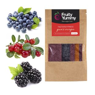 Fruity Yummy, 40 g, Pastila assorted Wild berries, no sugar, m / s