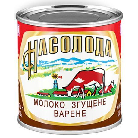 Насолода, 370 г, Молоко, Згущене, Варене, З цукром, 8,5%, ж/б