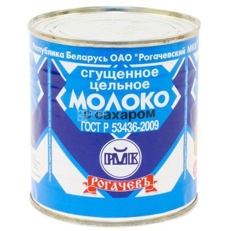 Рогачев, 380 г, Молоко сгущенное цельное с сахаром 8.5%, ж/б