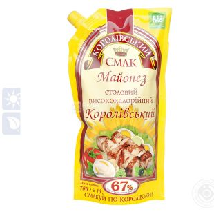 "Mayonnaise ""Korivsky Smak"" Imperial table 75% 360g doy-pack"
