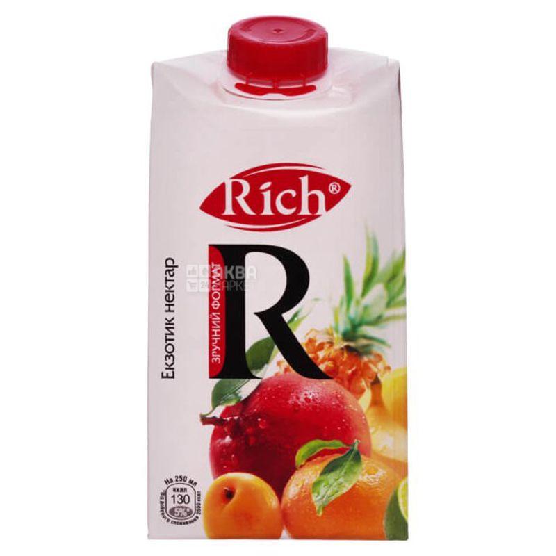 Rich, Екзотик, 0,5 л, Річ, Нектар натуральний, неосвітлений
