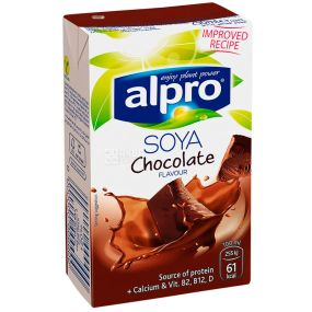 Alpro Soya Chocolate, 250ml, Alpro chocolate soy milk