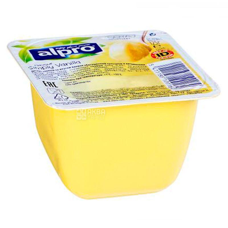 Alpro, Simply Vanilla, 125 г, Алпро, Десерт Ванильный, соевый йогурт
