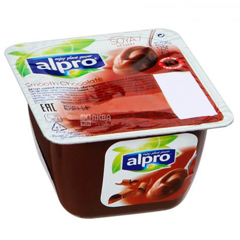 Alpro Smooth Chocolate, 125g, Chocolate soy dessert, soy yogurt