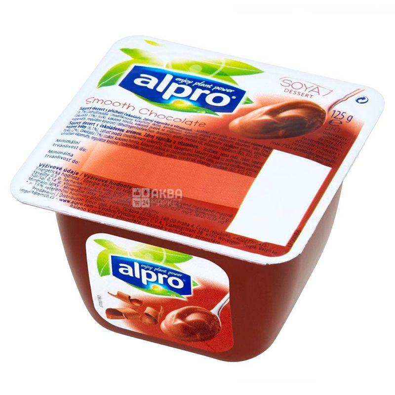 Alpro, Smooth Chocolate, 125г, Алпро, Десерт шоколадный, соевый йогурт
