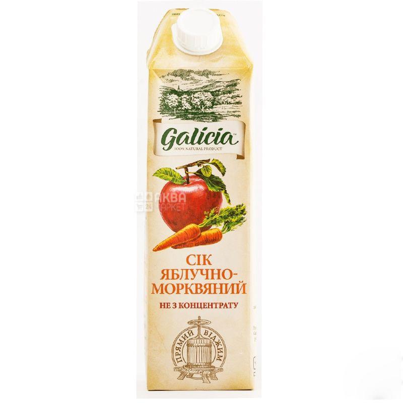 Galicia сок яблочно-морковный 100% сок 1л