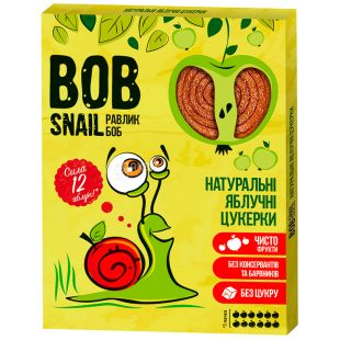 Bob Snail, 120 g, Pastila, Apple, Cardboard box