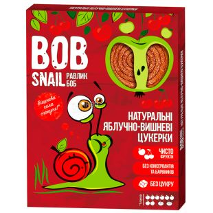 Bob Snail, 120g, Pastila, Apple-cherry, Cardboard box